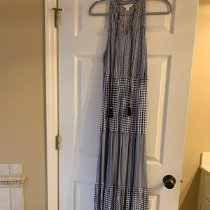 LC Lauren Conrad gingham maxi dress